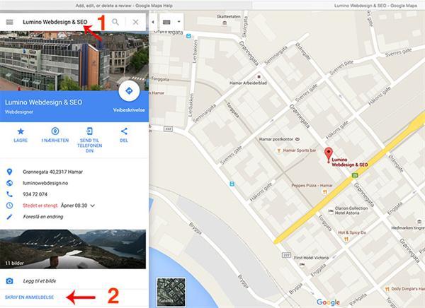 Få kunder til å skrive en omtale på Google kart