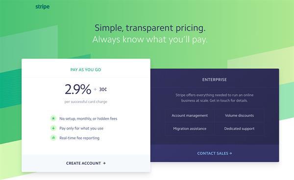 Stripe betalingsløsning for e-handel nettsider